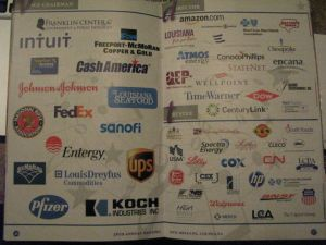 A shot of the inside of an ALEC brochure from the summer ALEC convention, August 5, New Orleans.