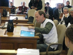 Geologist Jason Huberty testifies about the low grade of the iron ore in the Penokee Range.