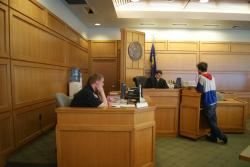 Arthur Kohl-Riggs pleads Not Guilty. Photo: Leslie Amsterdam