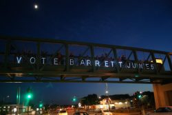 5/28/2012 9:08 pm.  Overpass Light Brigade in Madison.