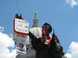 In front of the Wisconsin Capitol, June 6, 2012
