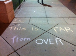 The chalking that resulted in the citation. Copyright  Sara Blackthorne 2012