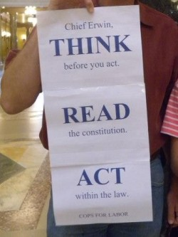 "A sign displayed at Solidarity Sing Along on ""Read the Constitution Day"" September 17, 2012. Photo by Lisa Wells."