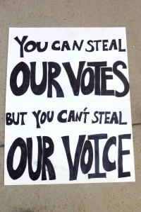 You Can't Steal Our Vote