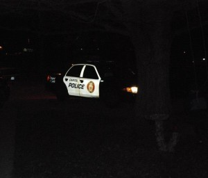 Capitol police deliver citations in the evening to citizens homes. Photo: Lisa Wells