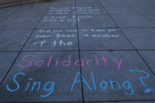 Public sidewalk chalking 12/5/12