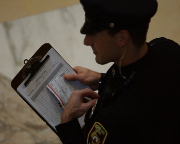 CPO Mathews and his list(G-P) on top of his training checklist clipboard.