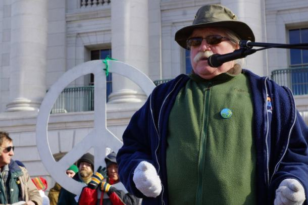 Frank Koehn from Save the Water's Edge in Ashland at Protect Wisconsin's Waters rally 1/26/13