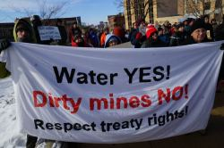 The main message from the Protect  Wisconsin's Waters rally 1/26/13.