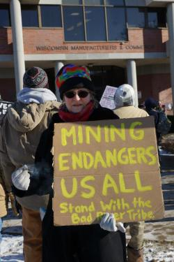 Patricia K Hammel MC'd the Protest Wisconsin's Waters rally and later burned sage at WMC 1/26/13
