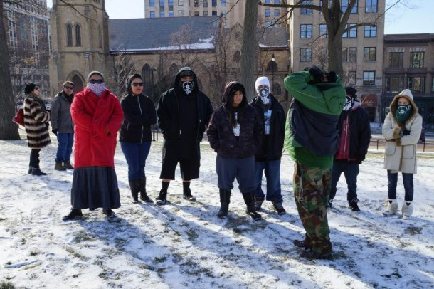 #Idle No More at Protect Wisconsin's Waters rally 1/26/13