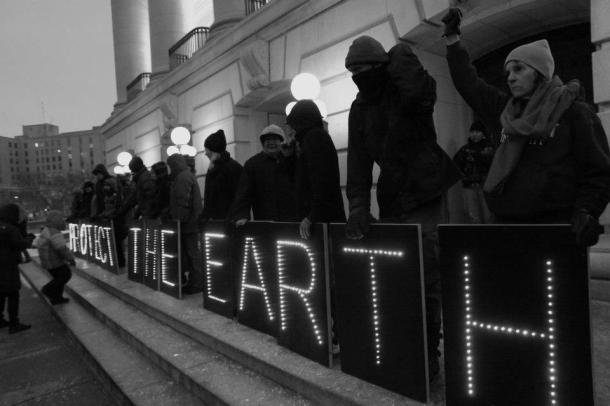 Protect the Earth #IdleNoMore  Madison WI 1/13/13