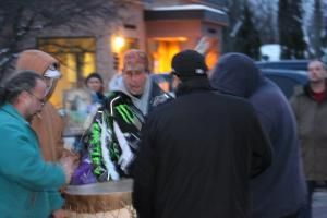 Idle No More outside Bayfield County Courthouse. Photo: Barbara Gadbois