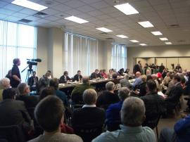 December 14, 2011 West Allis public hearing. Photo: Rebecca Kemble
