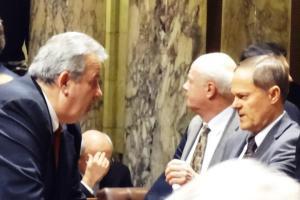 Sen. Honadel (R-) one of the bills sponsors and Sen. Robert Cowles (R-)