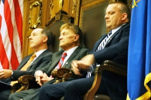 Rep. Robin Vos (R-), State Chair of ALEC, Sen. Ellis, Rep. Steve Kramer (R-)