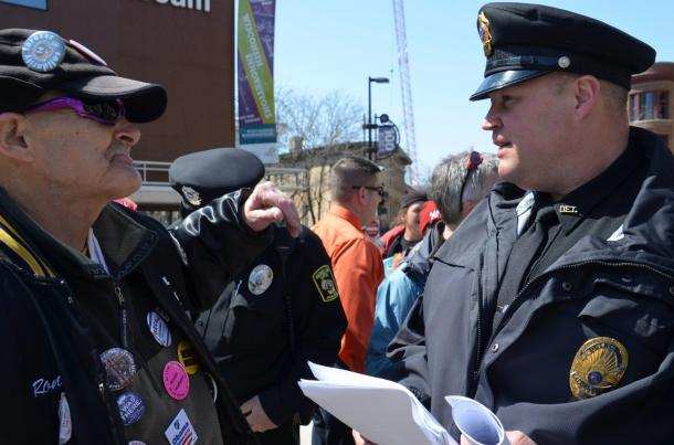 Detective Brian Henry delivers another two long-form complaints. Photo by Dawn Henke.