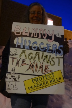 "People opposed to the mine were characterized as ""Bunny Huggers"" by Iron County Supervisor James Lambert."