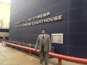 Charles Tubbs, former Wisconsin State Capitol Police Chief after testifying in a hearing re Kissick vs, Huebsch being defended by ACLU of Wisconsin in Western Federal District Court.