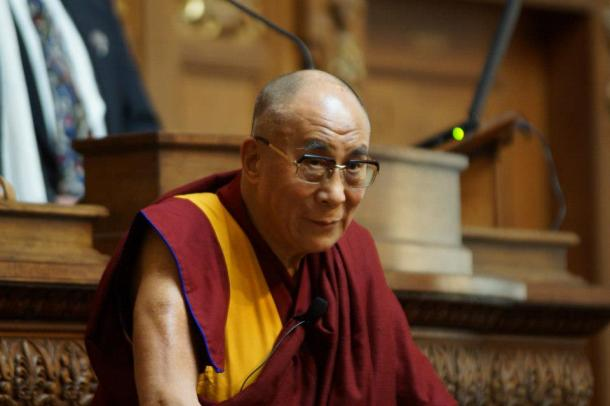 His Holiness the 14th Dalai Lama of Tibet, Tenzin Gyatso. Photo by Leslie Amsterdam