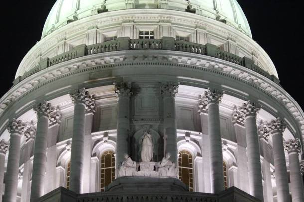 Wisconsin Capitol at night. Photo by Callen Harty.