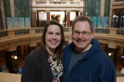 Greg Gordon and Diane Hesselbein at SSA