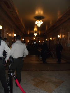 Law enforcement at the Capitol in March, 2011.