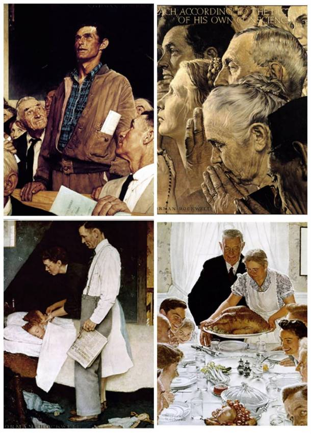 Four Freedoms by Normal Rockwell
