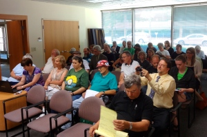 Members of the public waiting to testify at the July 12, 2013 public hearing on DoA rules changes.