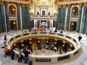 The capitol rotunda.
