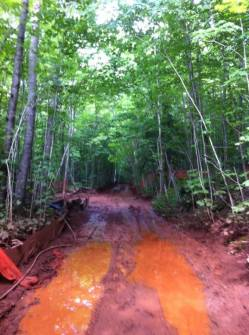 GTac has already left behind a mess from drilling core samples.