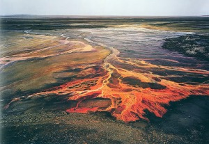 Sulfuric acid mine drainage.