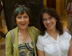 State Representatives Terese Berceau and Melissa Sargent at Solidarity SingAlong 8.7.13