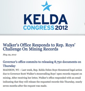 Kelda Helen Roys waited 7 months for Walker to respond to her open records request.