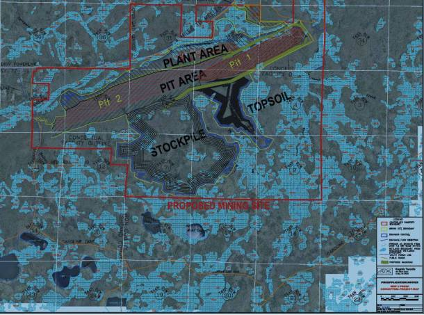 This is a map from Gogebic Taconite's filing with the DNR about their vision for the Penokee Hills. They claim the can engineer their way around polluting the water. This is why Wisconsin republicans weakened our wetlands regulation last year. This is why GTac is promoting a custom tailored law, SB 278, to avoid paying taxes on what is currently public-access land as they close access to the hiking, fishing, kayaking, hunting, gathering, and otherwise recreating members of the public. Public hearing on SB 278 this Wednesday, 11am in 300 SE at the Capitol: https://docs.legis.wisconsin.gov/2013/related/proposals/sb278
