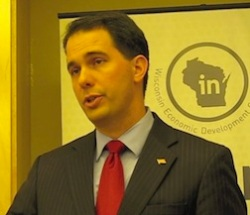 Gov. Walker, WEDC press conference.