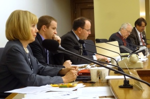 Committee members listen to testimony. Photo by Rebecca Kemble