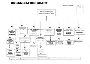 Corporate Organization Chart for Cobre Las Cruces, translated from the Spanish version (here)