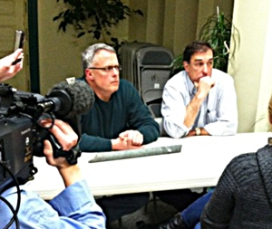 GTac lobbyist Bob Seitz and President Bill Williams at a recent one-on-one meeting in Ashland. Photo: Ros Nelson