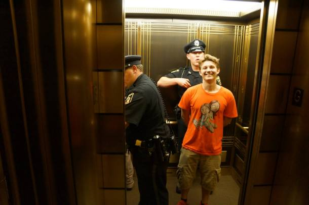 August 8, 2013 Jack in the elevator