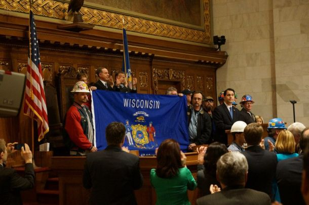 January 15, 2013 The State of the State address includes this show by Gov Walker that job creation  can be achieved through iron ore mining, ther mine project is mired in legal battles and environmental concerns.