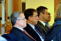 GTac lobbyist Bob Seitz, President Bill Williams and Lobbyist Tim Meyers. Photo: Rebecca Kemble
