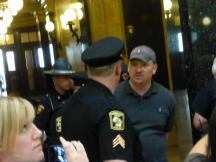 "Michael Crute was arrested on July 24, 2013, for ""unlawful assembly."" Photo by Erica Case."