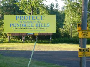 Penokee Hills Education Project (PHEP) helped sponsor this billboard south of Hurley on Highway 51. Photo: Bill Heart.