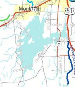 An enlarged map from the DNR website clearly shows there are no Class 1 trout streams near Montreal. The blue line indicates a Class 2, this one running south out of Pence.
