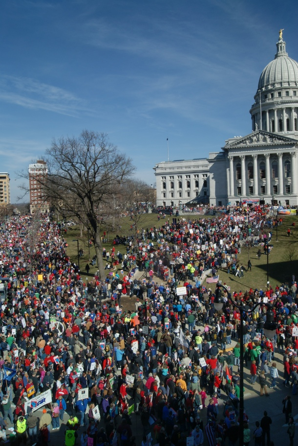 Reclaim Wisconsin rally, March 2012