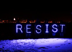 RESIST with Overpass Light Brigade in Madison Wisconsin December 28, 2014