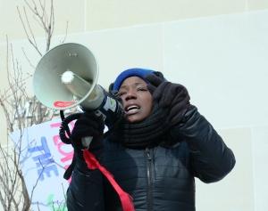 Brandi Grayson YG&B Coalition StoptheCuts-SaveUW February 14, 2015