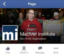 MacIver Institute Facebook page.