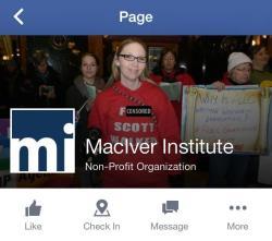 MacIver Institute Facebook page.